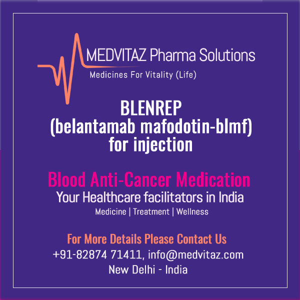 BLENREP (belantamab mafodotin-blmf) for injection, for intravenous use. Initial U.S. Approval: 2020