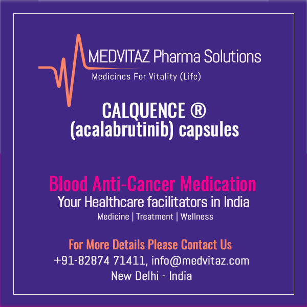 CALQUENCE (acalabrutinib) capsules, for oral use. Initial U.S. Approval: 2017