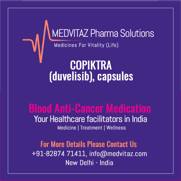 COPIKTRA (duvelisib), capsules for oral use. Initial U.S. Approval: 2018