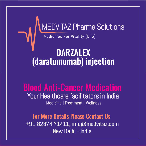 DARZALEX (daratumumab) injection, for intravenous use. Initial U.S. Approval – 2015