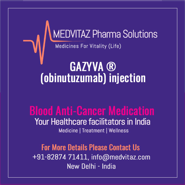 GAZYVA (obinutuzumab) injection, for intravenous infusion. Initial U.S. Approval: 2013