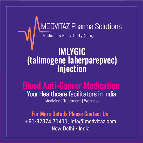IMLYGIC (talimogene laherparepvec). Suspension for intralesional injection Initial U.S. Approval: 2015