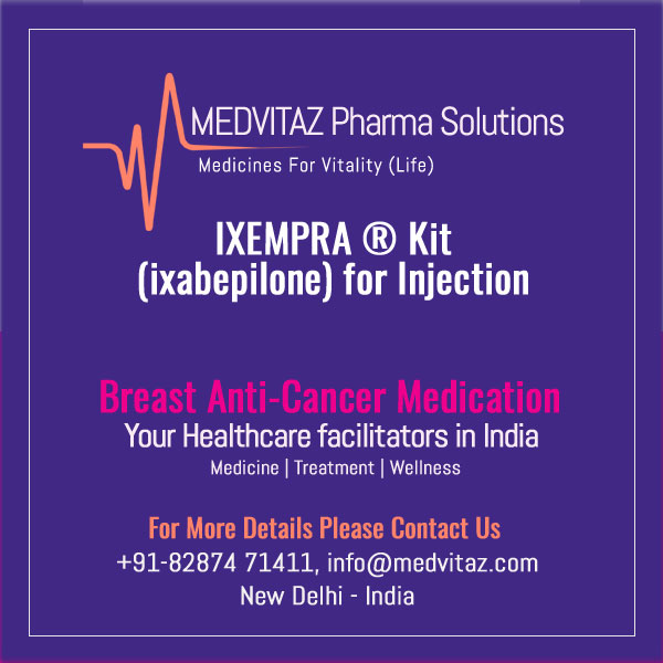 IXEMPRA Kit (ixabepilone) for Injection, for intravenous infusion only Initial U.S. Approval: 2007