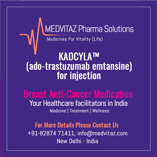 KADCYLA (ado-trastuzumab emtansine) for injection, for intravenous use Initial U.S. Approval: {YYYY}
