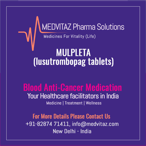 MULPLETA (lusutrombopag tablets) for oral use. Initial U.S. Approval: 2018