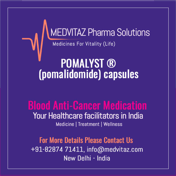 POMALYST (pomalidomide) capsules, for oral use. Initial US Approval: 2013