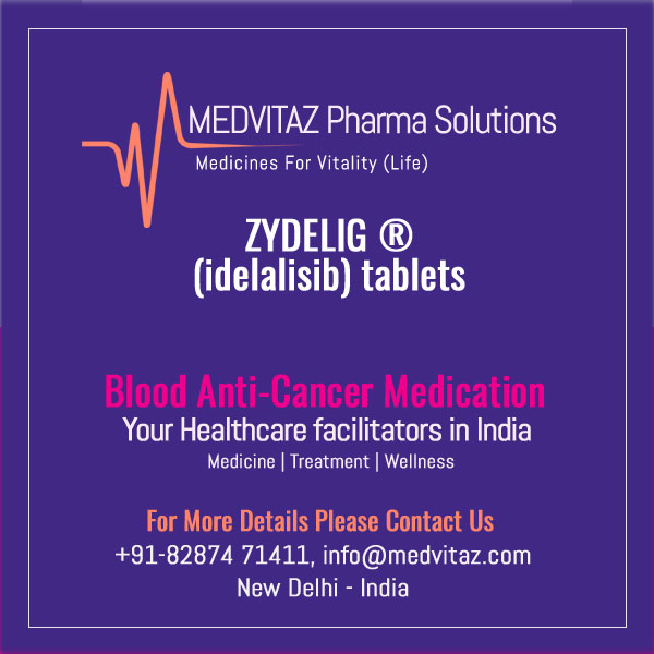 ZYDELIG (idelalisib) tablets, for oral use. Initial U.S. Approval: 2014