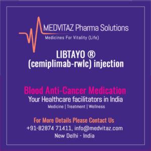LIBTAYO (cemiplimab-rwlc) injection Price In India
