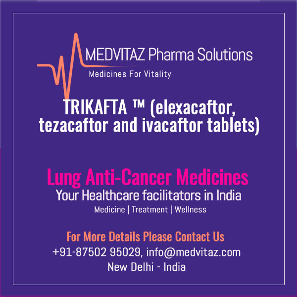 TRIKAFTA (elexacaftor, tezacaftor and ivacaftor tablets; ivacaftor tablets), co-packaged for oral use. Initial U.S. Approval: 2019