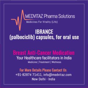 IBRANCE (palbociclib) capsules Price Cost India
