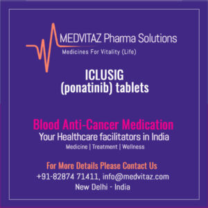 ICLUSIG (ponatinib) tablets price cost in India