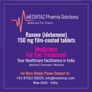 Raxone (idebenone) price In india