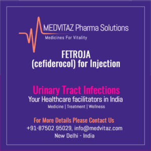 FETROJA (cefiderocol) for injection price in India