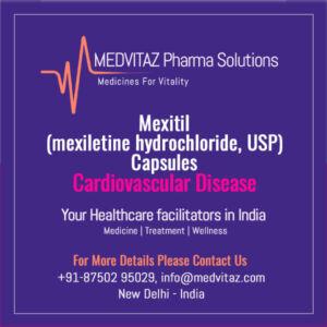 Mexitil (mexiletine hydrochloride, USP) Capsules Delhi India